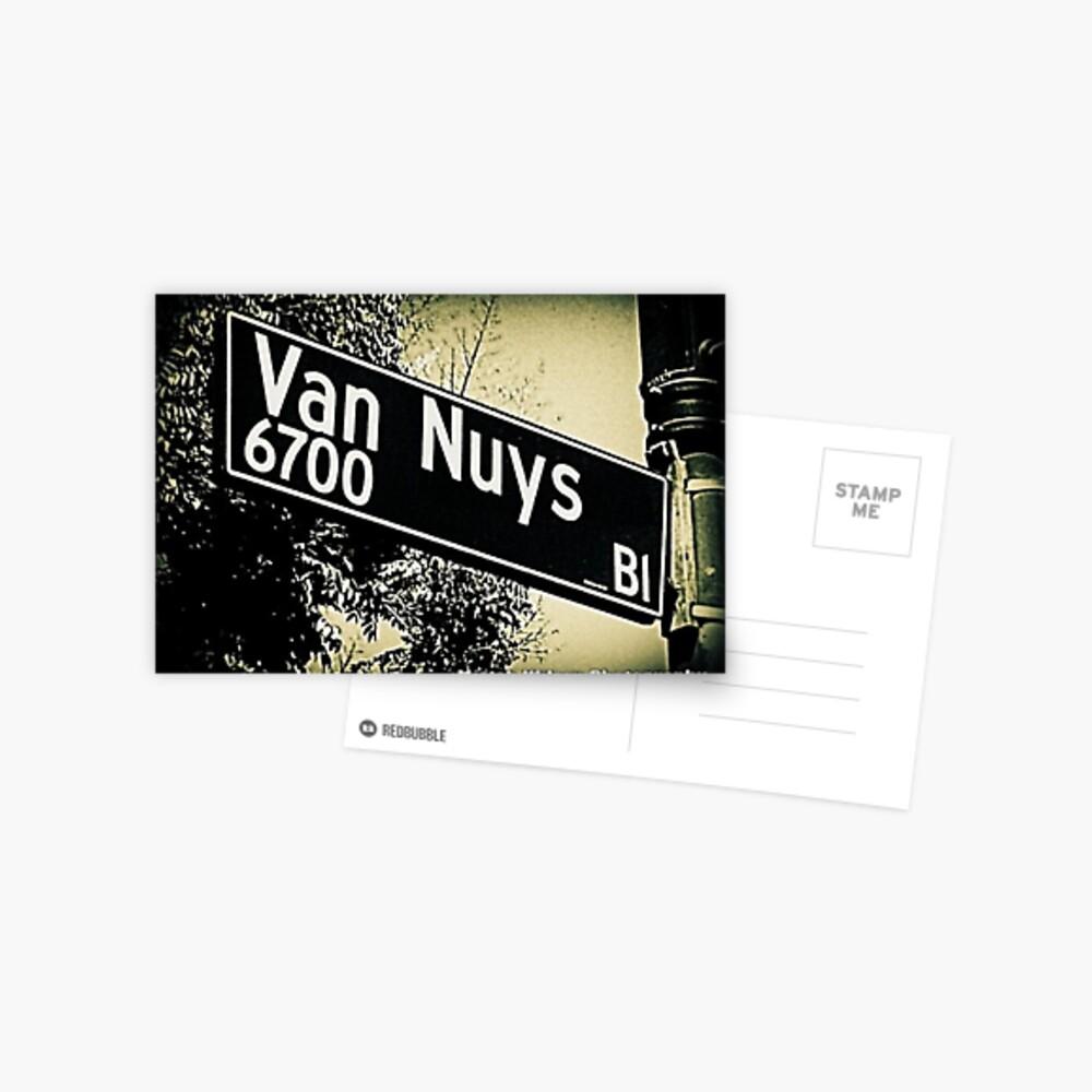 Van Nuys Boulevard, SFV, Los Angeles, California by Mistah Wilson Postcard