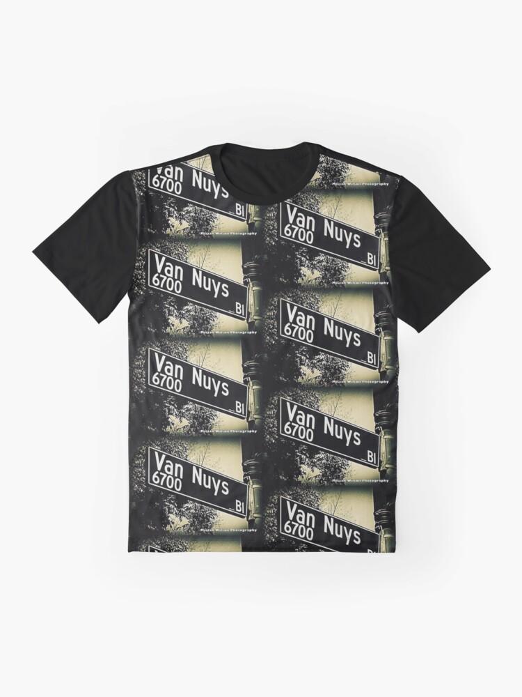 Alternate view of Van Nuys Boulevard, SFV, Los Angeles, California by Mistah Wilson Graphic T-Shirt
