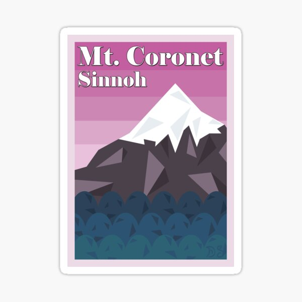 Mount Coronet Sticker