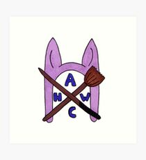 Animal Hat Witch Coven Official Logo Art Print