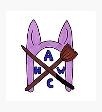 Animal Hat Witch Coven Official Logo Photographic Print