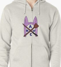 Animal Hat Witch Coven Official Logo Zipped Hoodie