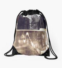 Collage Drawstring Bag