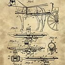 Antique Horse Detacher Blueprint patent drawing plan from 1902 by Glimmersmith