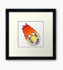Dead Like Me - Flaming Toilet Seat Framed Print