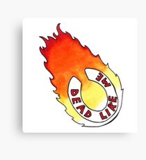 Dead Like Me - Flaming Toilet Seat Canvas Print