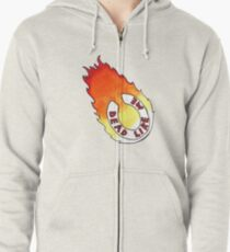 Dead Like Me - Flaming Toilet Seat Zipped Hoodie