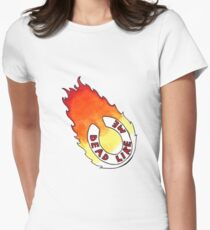Dead Like Me - Flaming Toilet Seat Women's Fitted T-Shirt