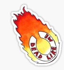 Dead Like Me - Flaming Toilet Seat Sticker