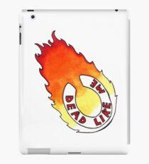 Dead Like Me - Flaming Toilet Seat iPad Case/Skin