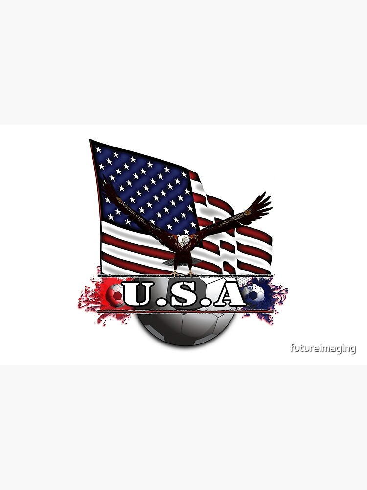 USA Soccer with Eagle & Flag by futureimaging