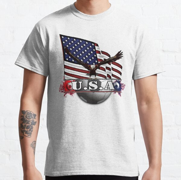 USA Soccer with Eagle & Flag Classic T-Shirt