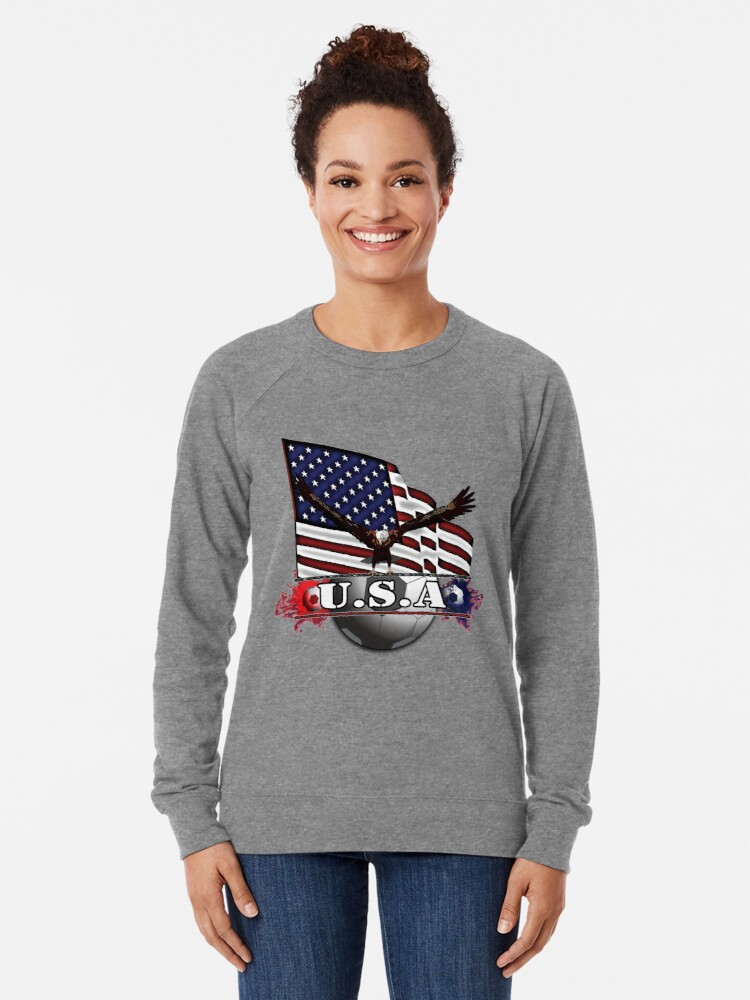 Alternate view of USA Soccer with Eagle & Flag Lightweight Sweatshirt