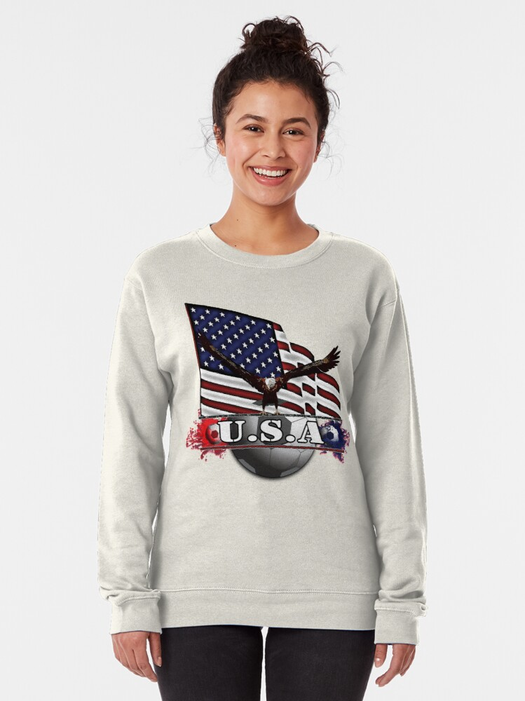 Alternate view of USA Soccer with Eagle & Flag Pullover Sweatshirt