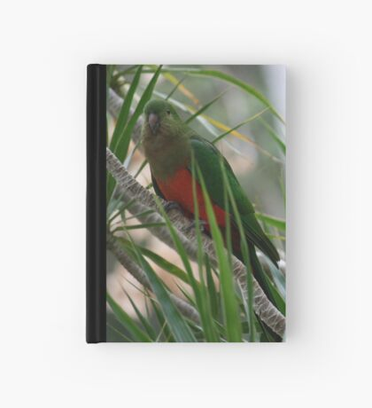 A Shy Female King Parrot Hardcover Journal