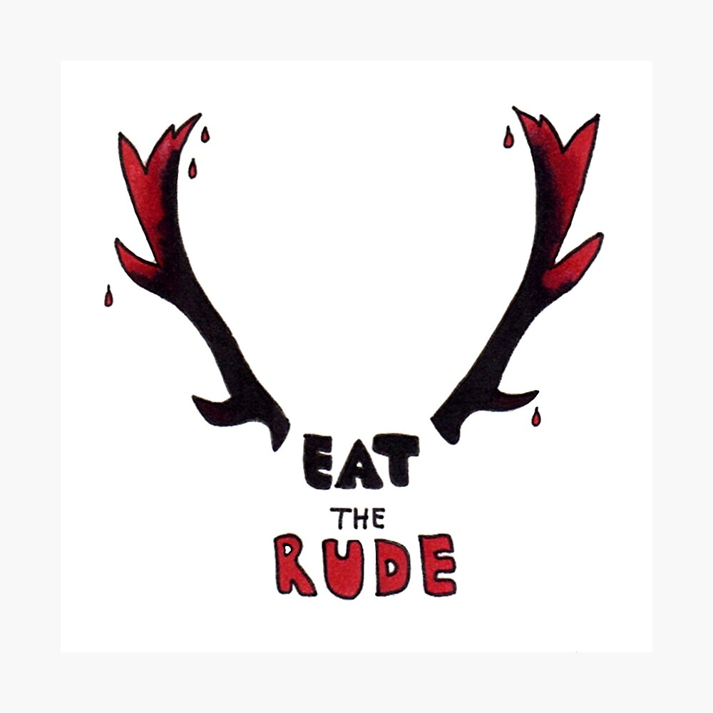 Hannibal - Eat The Rude Bloody Antlers Photographic Print