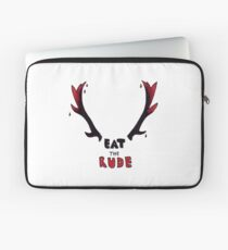 Hannibal - Eat The Rude Bloody Antlers Laptop Sleeve