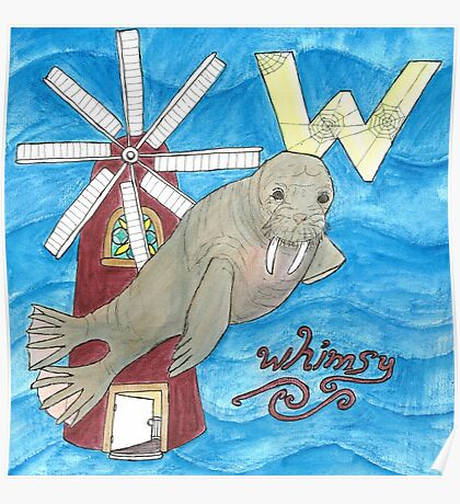 W is for walrus. Poster