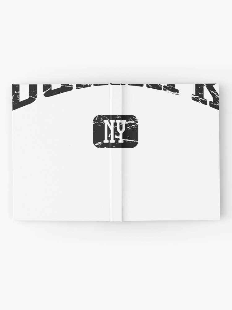 Alternative Ansicht von Dunkirk New York NY Vintage Style Faded Tee from Hometown Tees Notizbuch