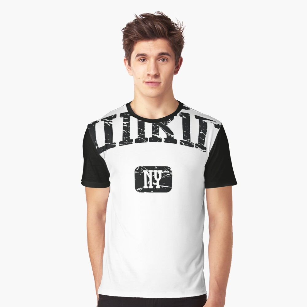 Dunkirk New York NY Vintage Style Faded Tee from Hometown Tees Grafik T-Shirt