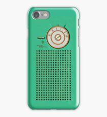 Retro geek Gumby green Transistor Radio design iPhone Case/Skin