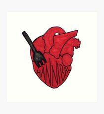 Hannibal - Fork In Heart Art Print