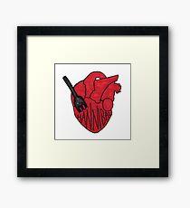 Hannibal - Fork In Heart Framed Print