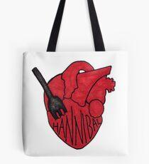 Hannibal - Fork In Heart Tote Bag
