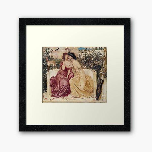 Sappho and Erinna  Framed Art Print