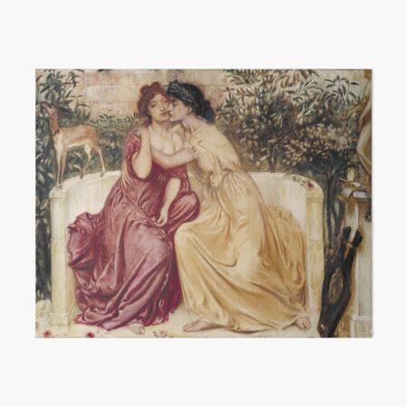 Sappho and Erinna  Art Board Print