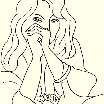 YOUNG WOMAN : Vintage Matisse Print by posterbobs
