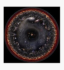 Observable Universe Logarithmic Illustration (2019 Version!) Photographic Print