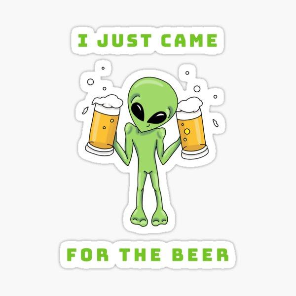 Ali loves Beer by Silvana Arias Sticker