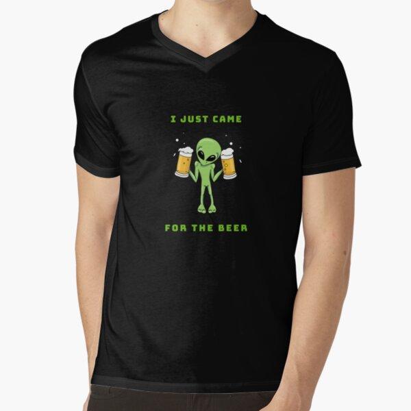Ali loves Beer by Silvana Arias V-Neck T-Shirt