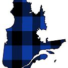 Quebec in Blue Plaid by Sun Dog Montana