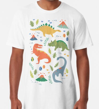 Dinos + Volcanoes Long T-Shirt