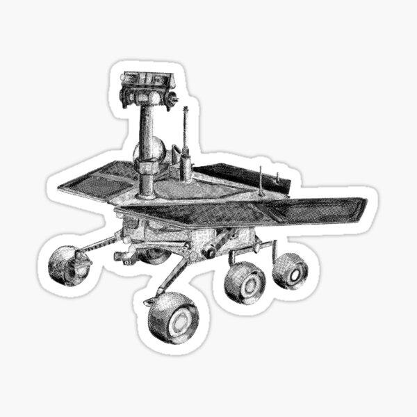 Opportunity Mars Rover in Halftones Sticker