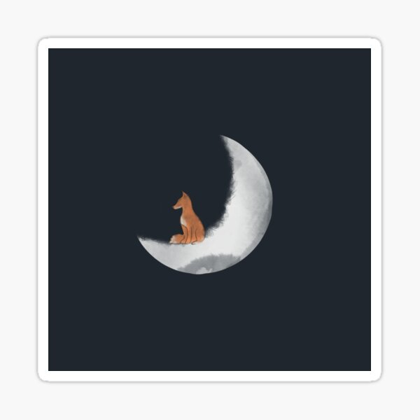 Fox Moon  Sticker