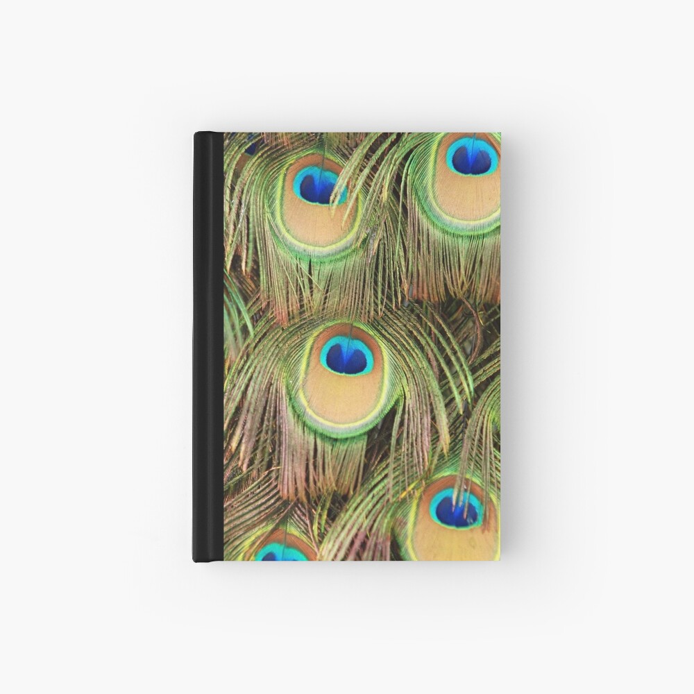 Peacock tail Hardcover Journal