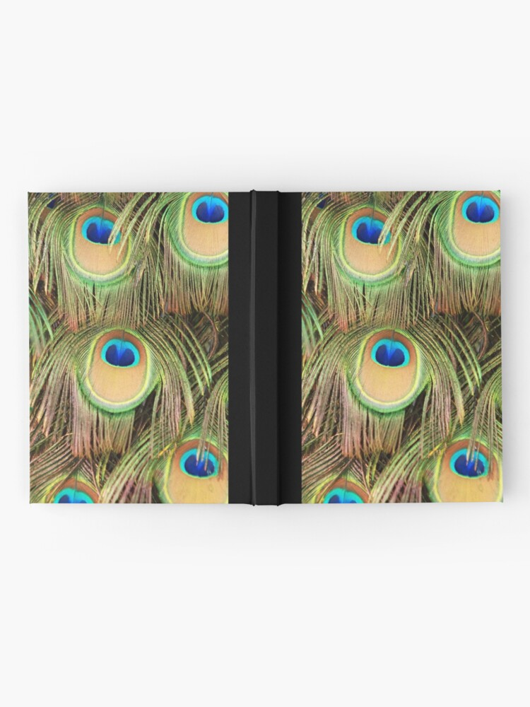 Alternate view of Peacock tail Hardcover Journal