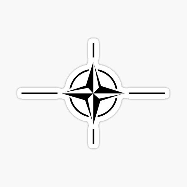 NATO Flagge OTAN North Atlantic Treaty Organization 50mm Aufkleber x4 Stickers