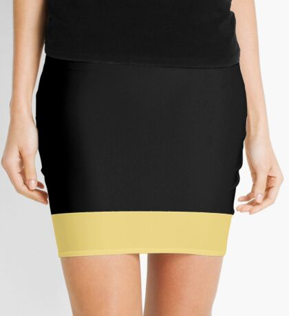 Black and Yellow Stripe Mini Skirt