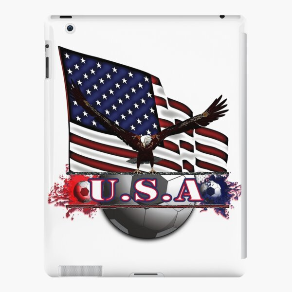 Red White & Blue USA Soccer with Eagle & Flag iPad Snap Case