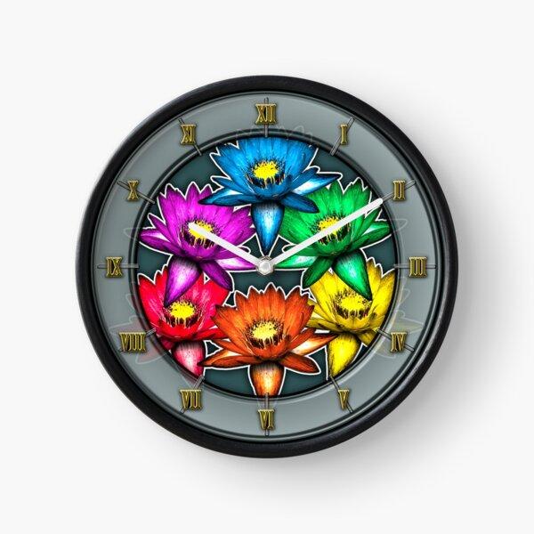 Pride Lilies Pyramid Clock