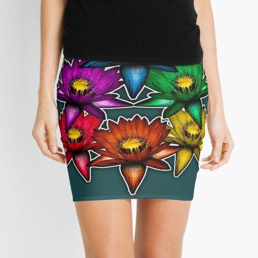 Pride Lilies Pyramid Mini Skirt