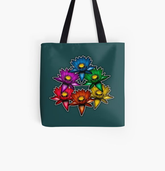 Pride Lilies Pyramid All Over Print Tote Bag