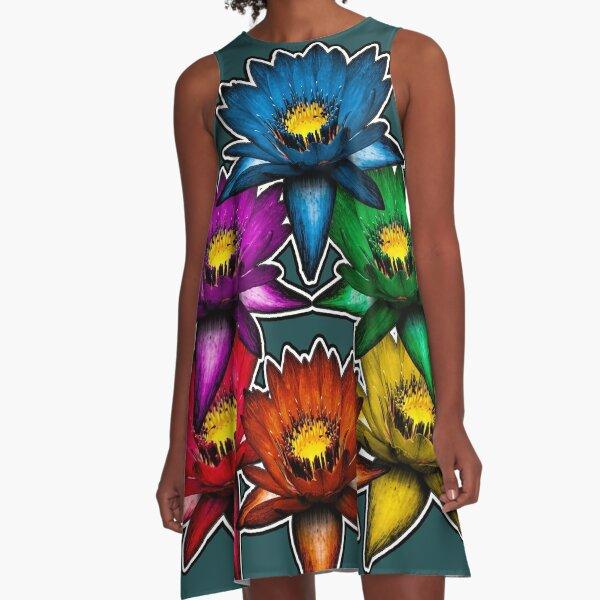 Pride Lilies Pyramid A-Line Dress