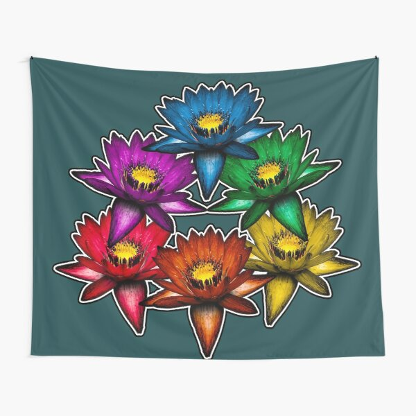 Pride Lilies Pyramid Tapestry