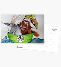 The Bilby and the Numbat went to sea in a beautiful pea green boat Postcards