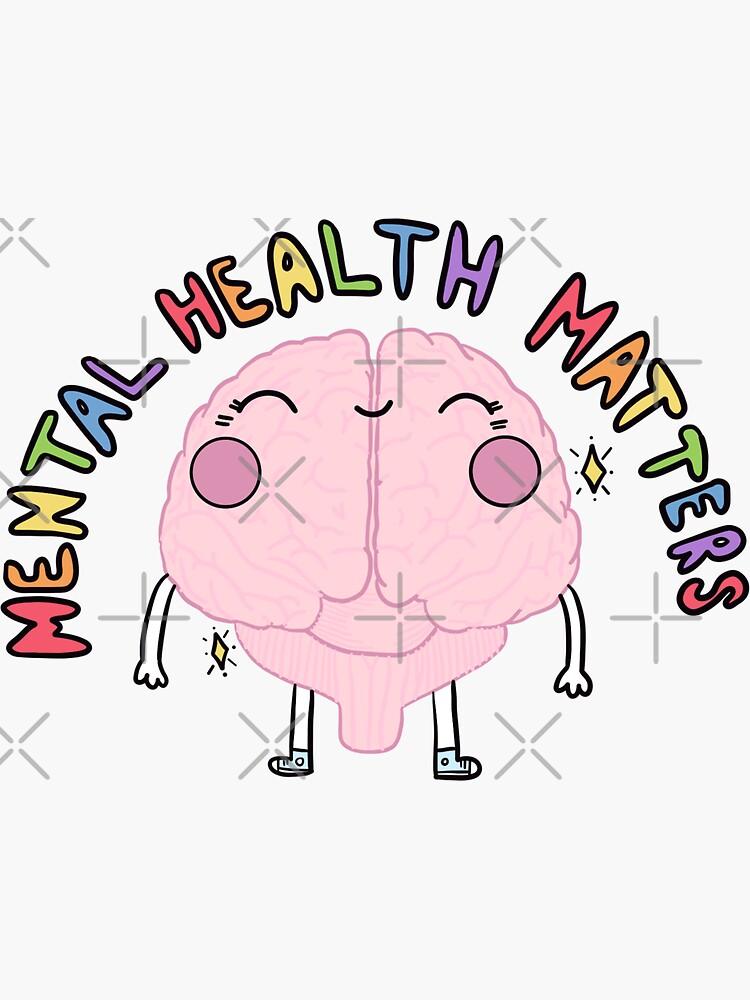 Mental Health Matters - Brain by crystaldraws